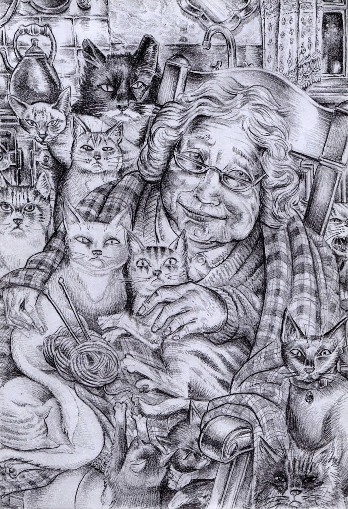 The Cat Lady - by Mike Stuart